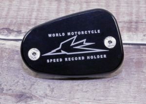 "Triumph Master Cylinder Brake Fluid Cap. ""World Speed Record Holder"" Air & Liquid Cooled Twins:"